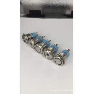16mm 1NO1NC Interruptor de botón de encendido LED