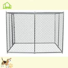 Large outdoor chain link dog fence