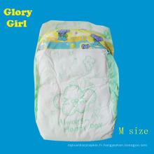 La feuille de dessus de coton respirable jour nous les fabricants endormis de couche-culotte de bébé de porcelaine