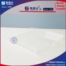 Superior Clear Square Acrylic Tray
