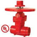 UL / FM Nrs tipo válvula de portão com placa redonda