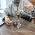 Amazon Gift Double Wall Borosilicate Glass Classic Tea Coffee Set For Coffee Tea Espresso