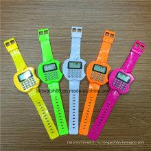 Промо-дети цифровые часы Яблоко shaped калькулятор часы для детей