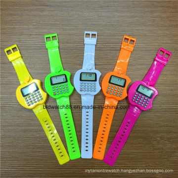 Promotional Kids Digital Watch Apple Shaped Calculator Watches for Children
