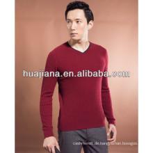 junger Mann Kaschmir stricken V-Ausschnitt Pullover