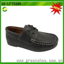 Vente chaude gros trou enfants chaussures garçon (GS-LF75346)