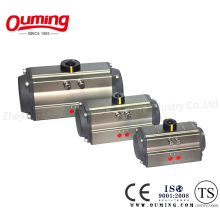 Actuador neumático rotatorio de retorno de resorte (tipo cremallera y piñón)