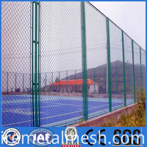 the stadium pvc chain link fence picture