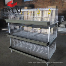 Sistema de bebida automático Parrilla de jaula de alambre de broiler / jaula de engorde en venta en Kenia