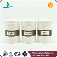Made In China Wholesale Ceramic Vasilha Set Chá Canister