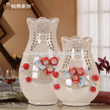 New arrival fashion decorative flower vase promotional gift flower pottery vase