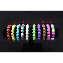 Hip-Hop Turquoise skull shamballa bracelet cheap BR22