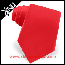 Best Ties Necktie in Solid Color Red Silk Tie