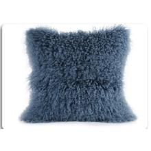 OEM Custom Full Pelt Pink Lamb Fur Pillow