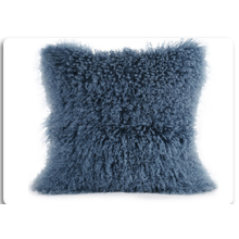 Mongolian Lamb Fur Pillow For Garden Decorative