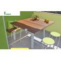 Mesa de madera WPC exterior compuesto de Eco para jardín y Parque