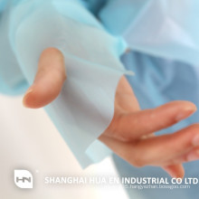 Disposable surgical plastic thumb hook impervious cpe gown