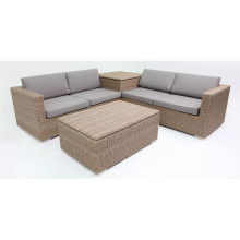Resin Patio Wicker Garden Outdoor Rattan Lounge Sofa Set