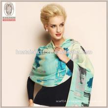 Грейс градиент цвета ручной работы длинный шерстяной платок шарф