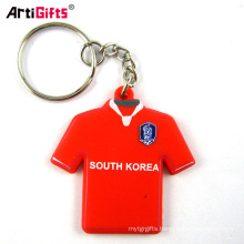 Wholesale custom 3d soft pvc rubber mini t-shirt qr code cloth keychain