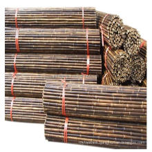 Carbonized brown decorative black bamboo fence for sale