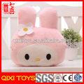 Pink rabbit pillow customized logo promotional gift decorative pillow