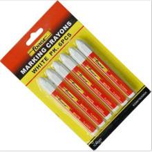 6pcs non-toxique marquant imperméable à l'eau de marqueur de crayon de marquage blanc