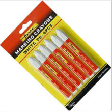 6PCS Non-Toxic Waterproof Marking Crayon Marking Pen Marker White