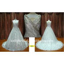 Heavy Crystal Hochwertige Spitzen Neue Arrvial Kleider Hochzeitskleider