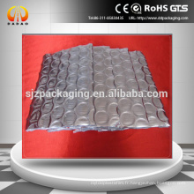 Feuille d'aluminium avec bulle d'air