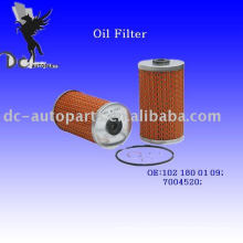 Filtro de aceite lubricante Insert 102 180 01 09 para Mercedes-Benz