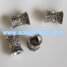 Large Hole Tibetan Silver Carving Beads Charms Fit European Bracelets