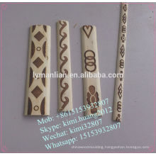 printed white wood beeding