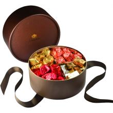 Emballage de chocolat cadeau personnalisé en forme ronde