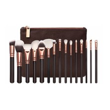 Professional 15pcs Makeup Brush Set with Leather Bag
