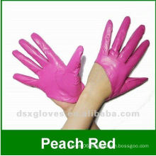 colorful leather short gloves