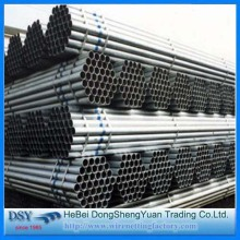 Round Zinc Coated Steel Tubes
