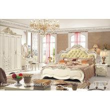 Conjuntos de mobiliário clássico em madeira de quarto de estilo antigo (HF-MG011)