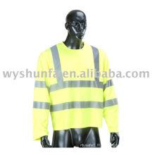 Manteau de sécurité routière réfléchissant