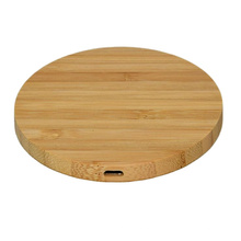 2021 New products factory Hot sell Portable Cell Phone 10W wireless bamboo charger