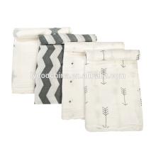100% Муслин хлопок 3шт пакет softextile ребенка пеленать одеяло