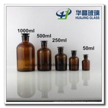 60ml-1000ml Amber Glass Reagent Bottle with Stopper