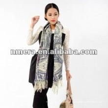 Impresión dúplex Garantía fina pura lana mujer bufandas