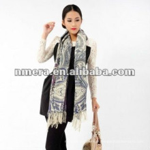Impressão duplex Garantindo lenços de mulher pura lã pura