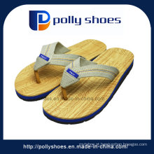 Mens Thong Slipper Slip na sapatilha praia simples piscina ginásio