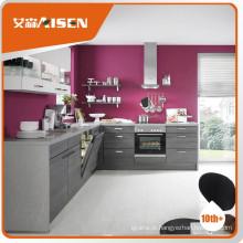 Com gabinete de cozinha com garantia de qualidade mfc com folheado de madeira