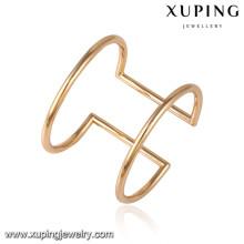 51588 xuping al por mayor 18k chapado en oro brazaletes de moda de mujer con piedra