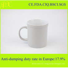 High Quality White Ceramic Coffee Mug in Colored Glazed