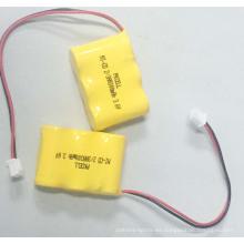 Batería recargable NI-CD 2 / 3AA 300mah 3.6V para mayor