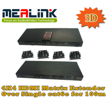 4 à 4 Cat5e / 6 HDMI Matrix Extender, pris en charge 3D